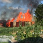 Grote buitenbrand in Aduard (Video)